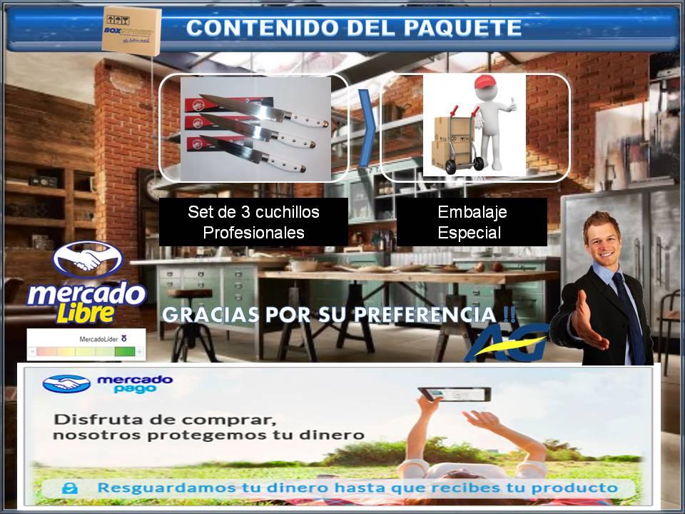 Tinas De Baño Inflables:Cuchillos Profesionales Master Tramontina Set X 3 Envios